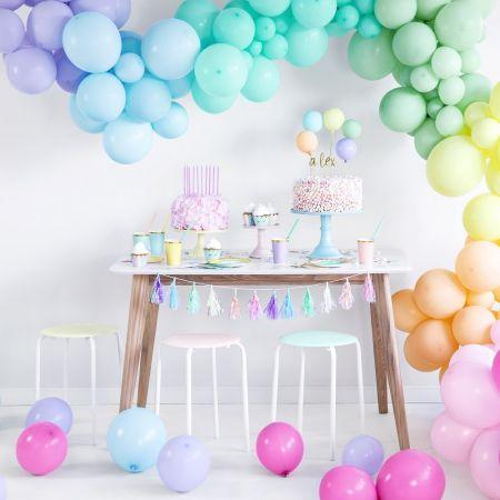 Ballon pastel bleu -  28 cm
