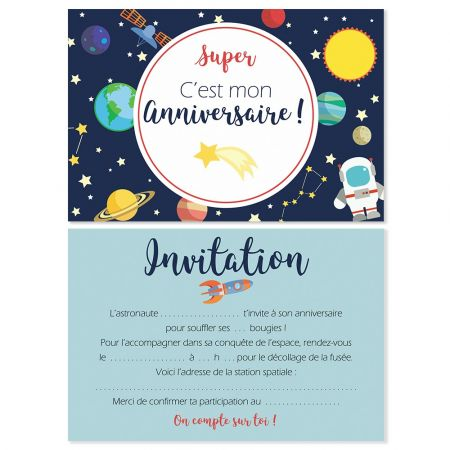 5 cartes d'invitation...