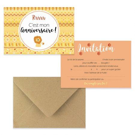 5 cartes d'invitation...