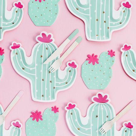 """6 assiettes """"cactus"""" - 24 cm"""