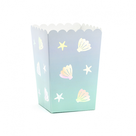 """6 pots à popcorn """"sous la mer"""""""