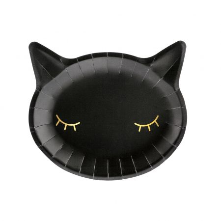 "6 assiettes ""chat noir"" -..."