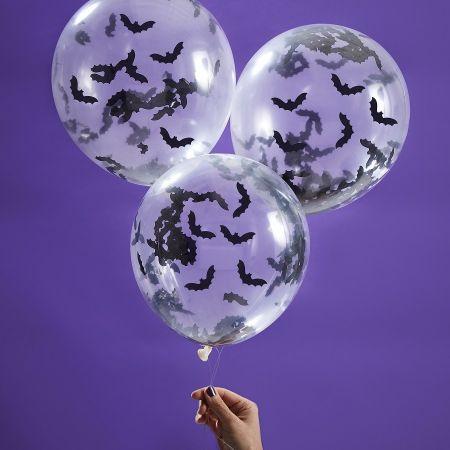 5 ballons confettis...