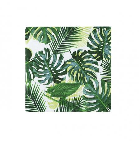 """20 serviettes """"feuilles..."""