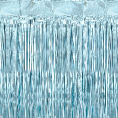 Rideau mylar bleu mat - 250 cm