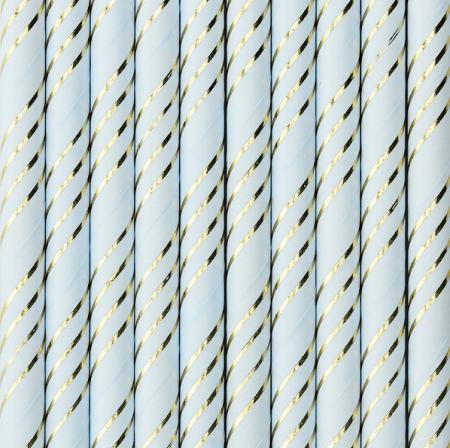 10 pailles bleu pastel...