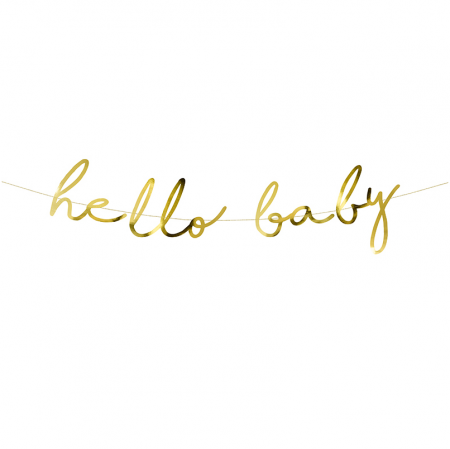 """Guirlande dorée """"Hello baby"""""""