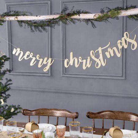 """Guirlande en bois """"Merry..."""
