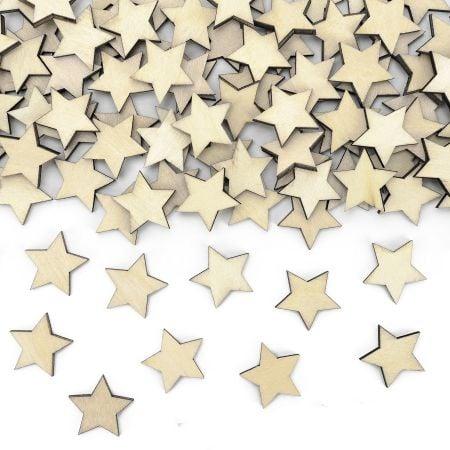 """50 confettis en bois """"étoile"""""""