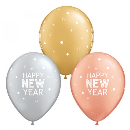 "6 ballons ""New year"" - 28 cm"