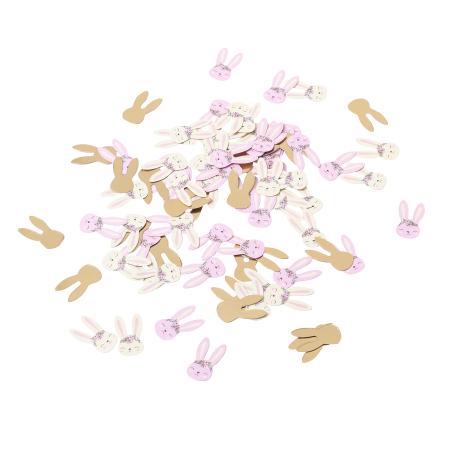 "120 confettis ""lapin fleuri"""
