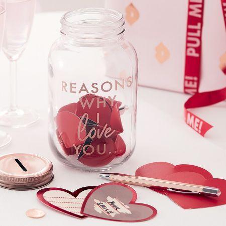 "Bocal mason jar ""mots d'amour"""