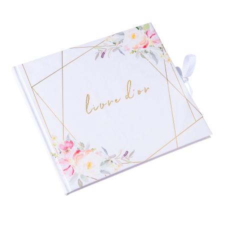 "Livre d'or ""mariage fleuri"""
