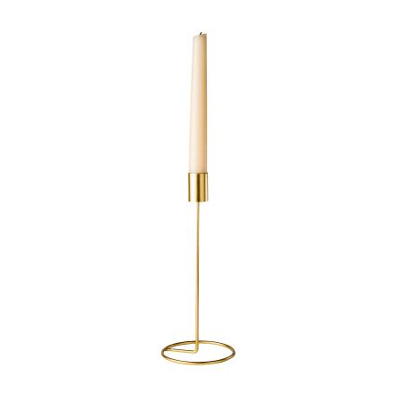 Bougeoir métal doré - 23 cm