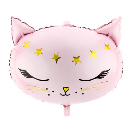 "Ballon mylar ""tête de chat""..."