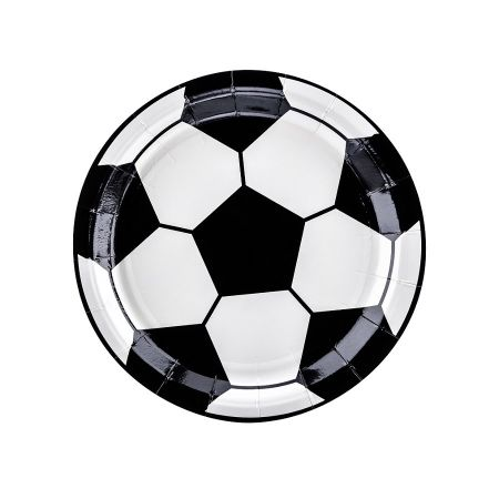 "6 assiettes ""football"" - 18 cm"