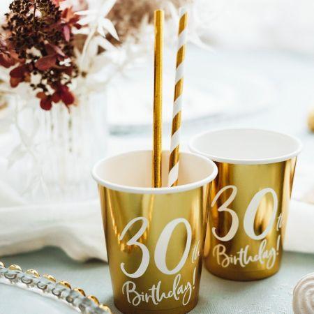 """6 gobelets """"30 ans"""""""