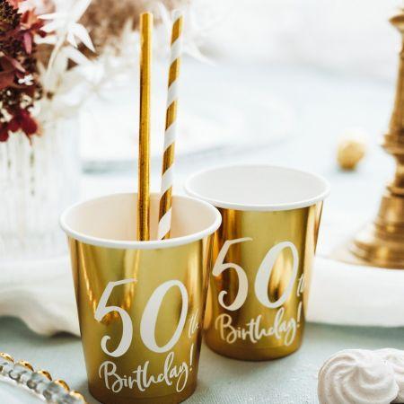 """6 gobelets """"50 ans"""""""