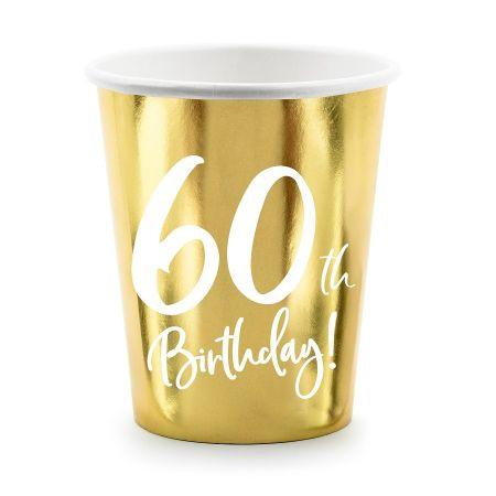 """6 gobelets """"60 ans"""""""