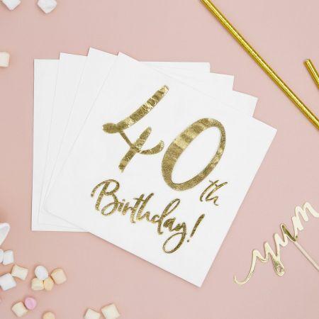 """20 serviettes """" 40 ans """""""