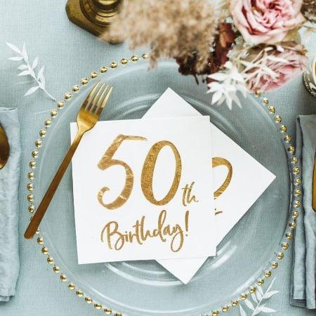 """20 serviettes """" 50 ans """""""