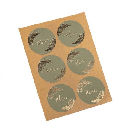 "24 stickers merci ""pampa kaki"""
