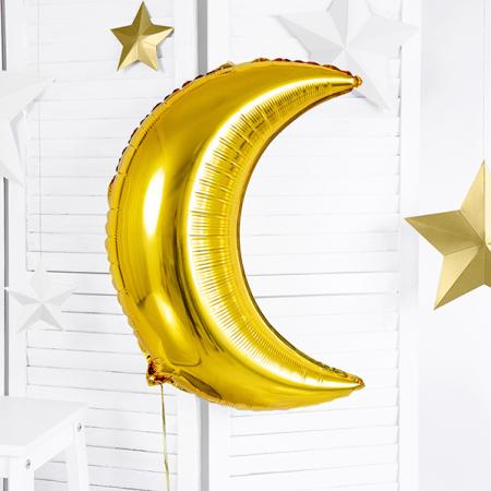 Ballon mylar lune dorée -...