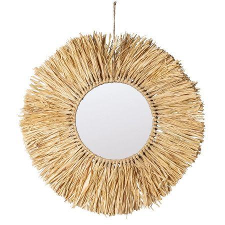 "Miroir raphia ""Bali"" - 30 cm"