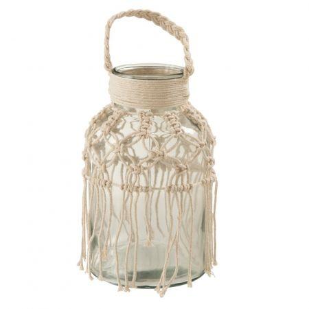 Lanterne ou vase en verre...