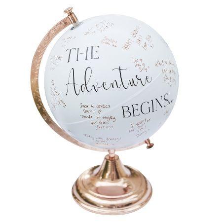 """Livre d'or """"globe terrestre"""""""