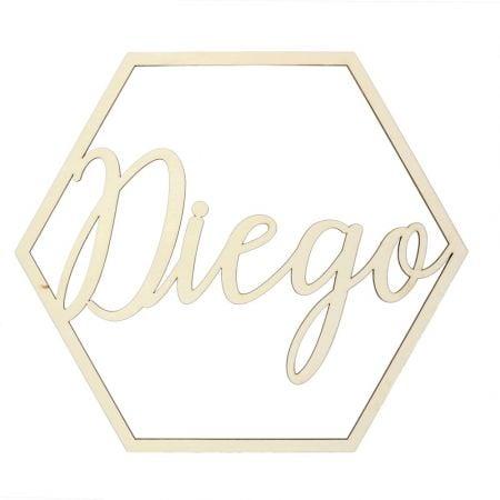 Décoration hexagone en bois...