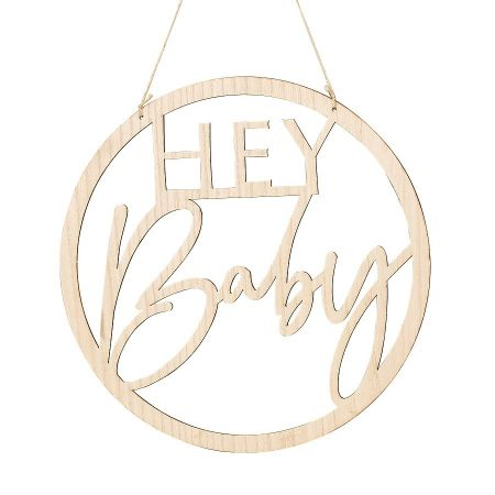 "Suspension en bois ""Hey baby"""