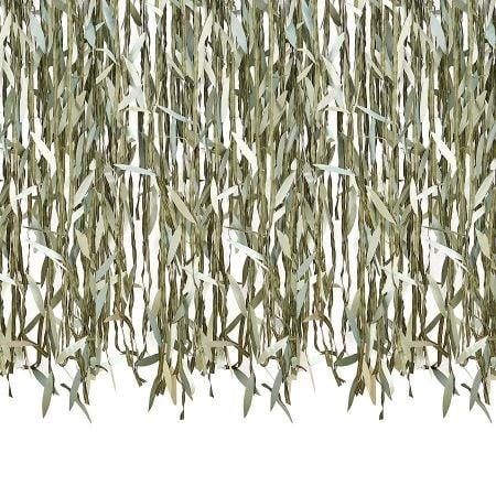 Rideau de feuilles vertes...