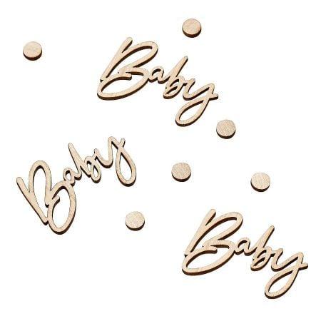 "18 confettis en bois ""Baby""..."