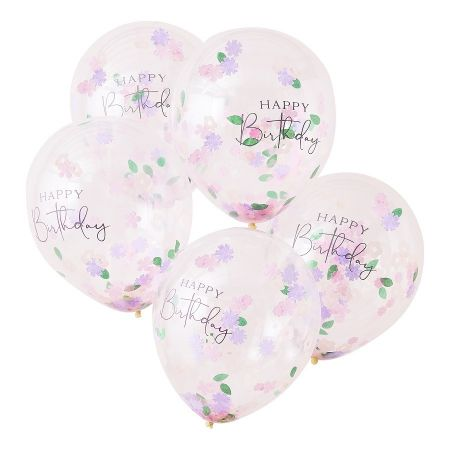 5 ballons transparents...