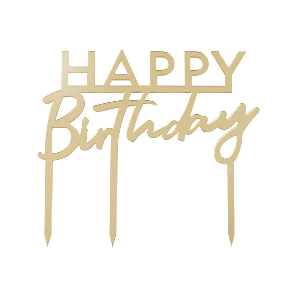 Cake Topper Plexiglas Dor 233 Quot Happy Birthday Quot