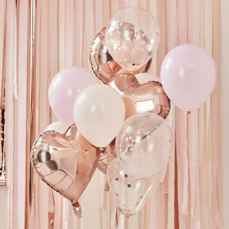 "Lot de 12 ballons ""rose..."