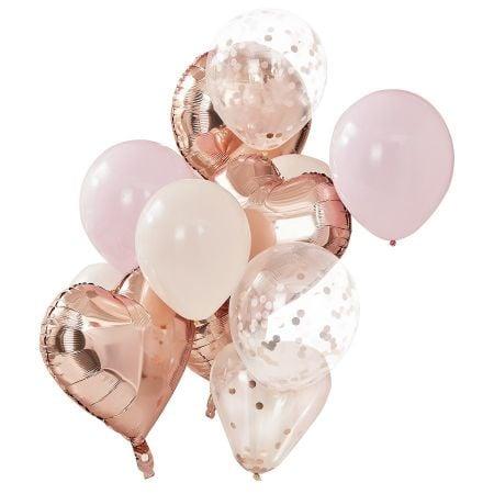 """Lot de 12 ballons """"rose..."""