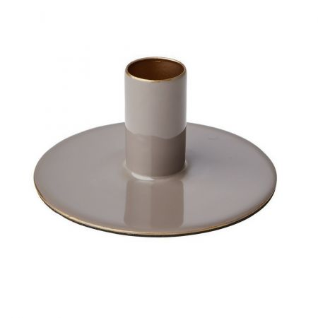Bougeoir métal galet - 4 cm