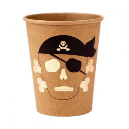 "8 gobelets avec dorure ""pirate"