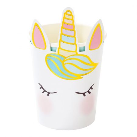 "8 gobelets ""tête de licorne"""