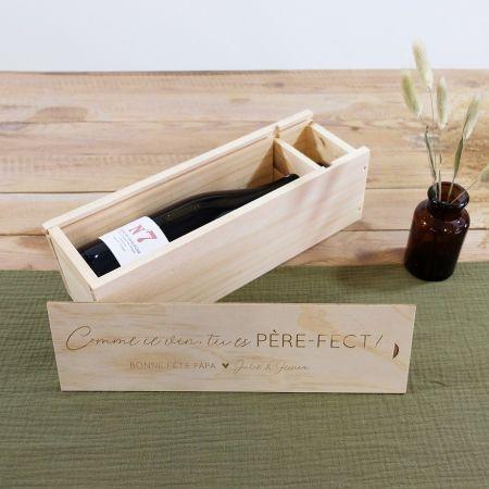 Caisse à vin en bois...