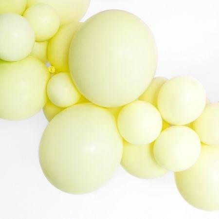 Ballon pastel jaune -  12 cm