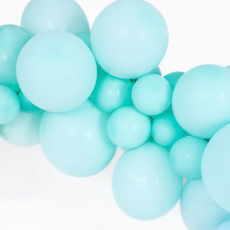 Ballon pastel menthe -  12 cm