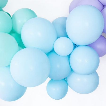 Ballon pastel bleu -  12 cm