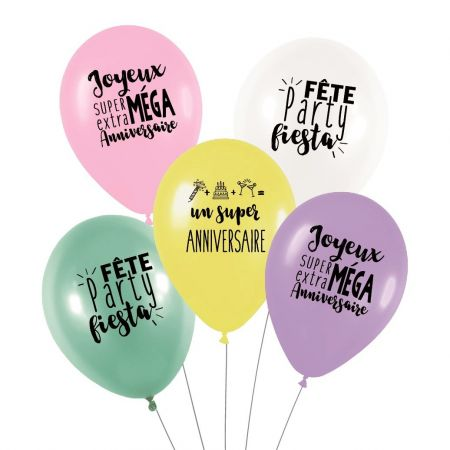 "Lot de 5 ballons ""super..."
