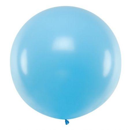 Ballon bleu ciel - 1 m