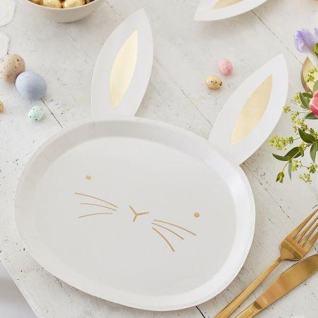 """8 assiettes """"lapin doré"""" -..."""