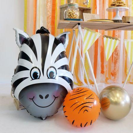 Ballon tête de zèbre - 81 cm