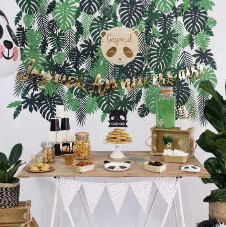 21 feuilles tropicales en papier